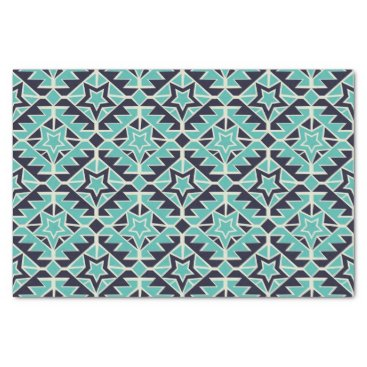 Aztec Themed Aztec turquoise and navy tissue paper