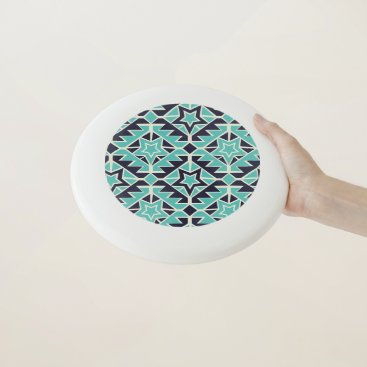 Aztec Themed Aztec turquoise and navy Wham-O frisbee