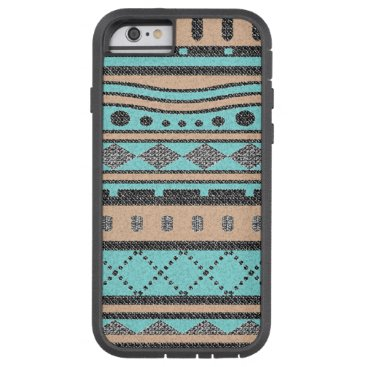 Aztec Themed Aztec Turquoise And Peach Pattern Tough Xtreme iPhone 6 Case