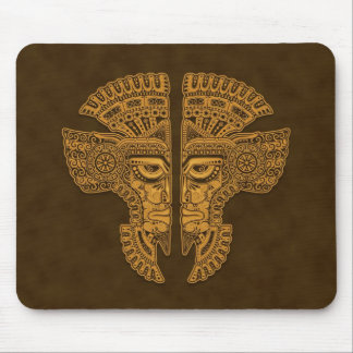 Aztec Twins (brown) Mouse Pad