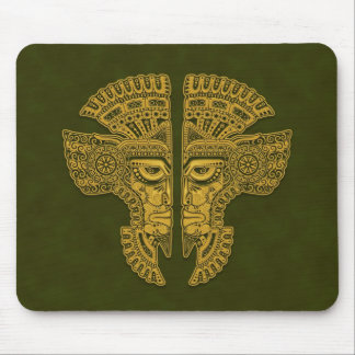 Aztec Twins (green) Mouse Pad