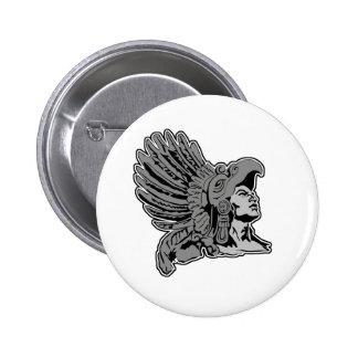 aztec warrior button