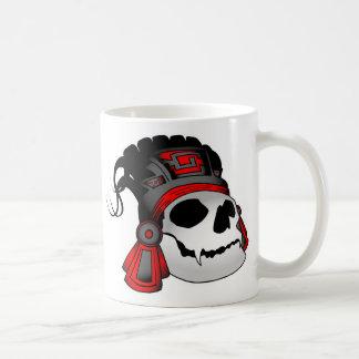 Aztec Warrior Skull Coffee Cup Mug