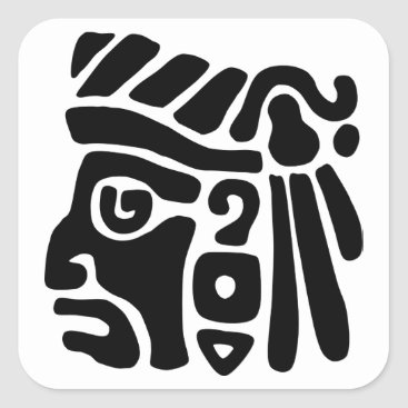 Aztec Themed Aztec Warrior Square Sticker