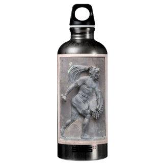 Aztec Warrior Stone carving Aluminum Water Bottle