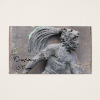 Aztec Warrior Stone carving Business Card