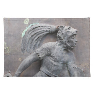 Aztec Warrior Stone carving Cloth Placemat