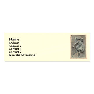 Aztec Warrior Stone carving Double-Sided Mini Business Cards (Pack Of 20)