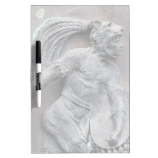 Aztec Warrior Stone carving Dry-Erase Board