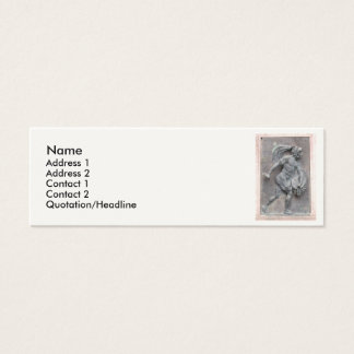 Aztec Warrior Stone carving Mini Business Card