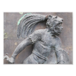 Aztec Warrior Stone carving Photo Print