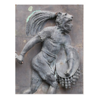 Aztec Warrior Stone carving Post Card