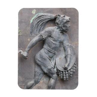 Aztec Warrior Stone carving Rectangular Photo Magnet