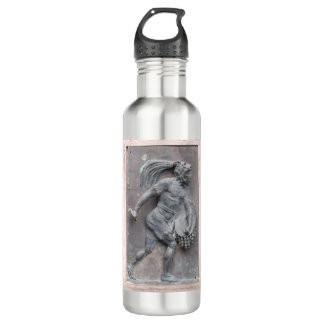 Aztec Warrior Stone carving Stainless Steel Water Bottle