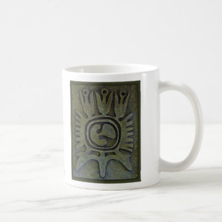 """Aztec Water Flower"" Simulated Artifact Coffee Mug"
