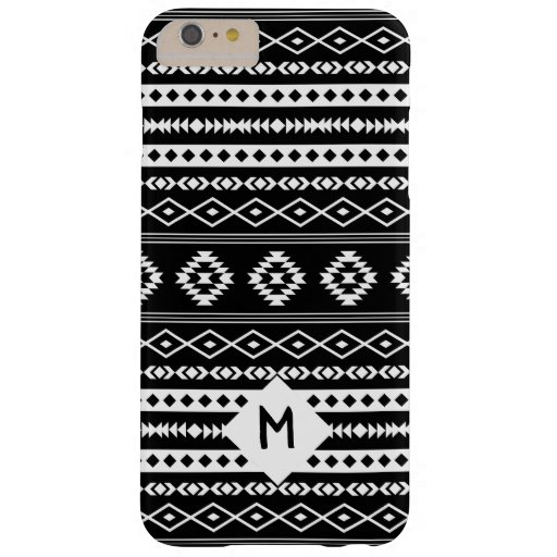 Aztec White on Blk Mixed Motif Pattern(Customized) Barely There iPhone 6 Plus Case