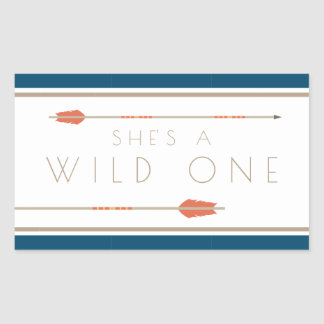 Aztec Wild One | First Birthday Rectangular Sticker
