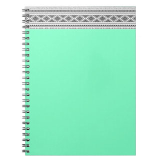 Aztec with twist spiral notebook