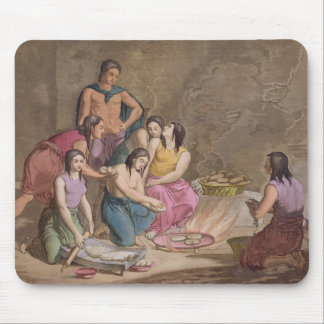 Aztec women making maize bread, Mexico, from 'Le C Mouse Pad