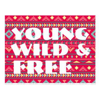 Aztec Young Wild Postcard