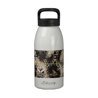Aztec Zebra Stripes Brown Leopard Modern Pattern Drinking Bottle