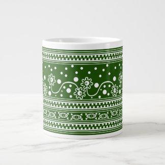 Aztec Zipper Tangle in Green Giant Coffee Mug