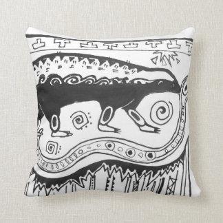 Azteca de la almohada del tejón de miel