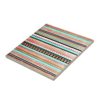 Azteca de moda azulejo cuadrado pequeño