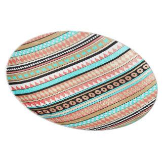 Azteca de moda plato de comida