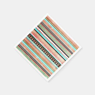 Azteca de moda servilleta de papel