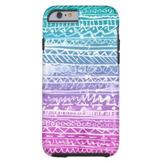Azteca en colores pastel de Ombre Funda Para iPhone 6 Tough