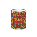 ~ azteca maya antiguo del diseño de la taza de caf