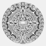 Azteca maya del calendario 12.21.2012 pegatina redonda