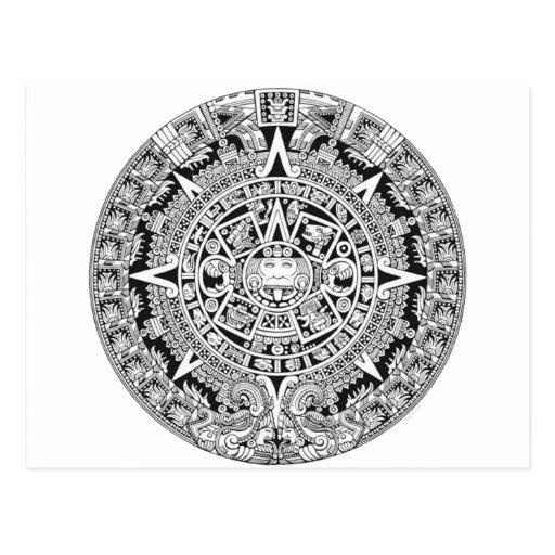 Azteca maya del calendario 12.21.2012 postal