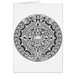 Azteca maya del calendario 12.21.2012 tarjeta de felicitación
