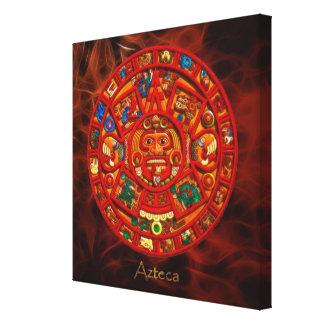 AZTECA ~ Mayan - Aztec Sun Calendar Art Print
