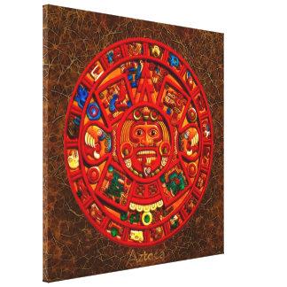 AZTECA ~ Mayan\Aztec Sun Calendar Art Print