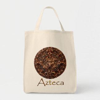 AZTECA ~ Mayan - Aztec Sun Calender Art Design Tote Bag
