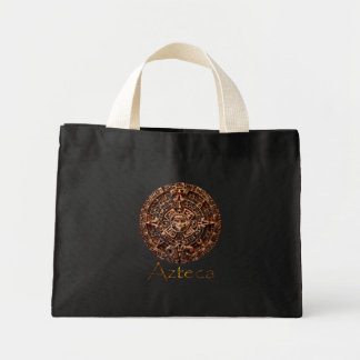 AZTECA ~ Mayan - Aztec Sun Calender Art Design Canvas Bag