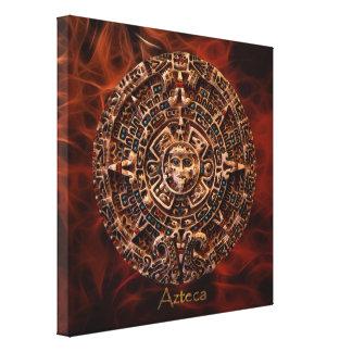 AZTECA ~ Mayan - Aztec Sun Calender Art Print