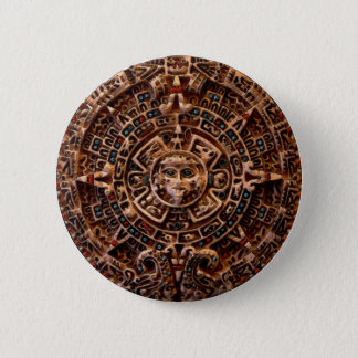 """AZTECA"" Mayan Sun-Calender Button"