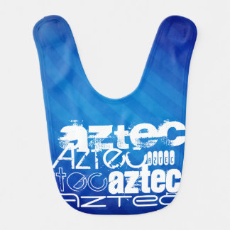 Azteca; Rayas azules reales Babero Para Bebé