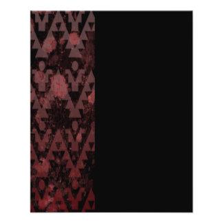 "Azteca rojo folleto 4.5"" x 5.6"""