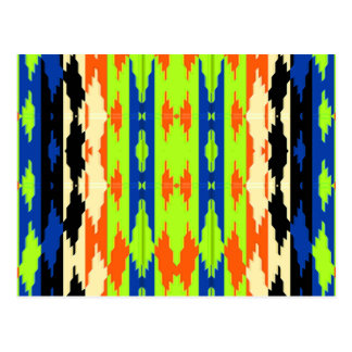Azteca tribal colorido nativo postales