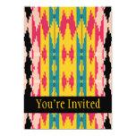 Azteca tribal de los colores intrépidos invitación 12,7 x 17,8 cm