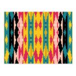 Azteca tribal de los colores intrépidos tarjeta postal