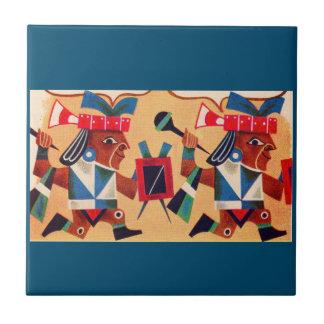 Aztecas aztecas azulejo cuadrado pequeño