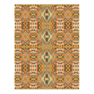 Aztecs Colorful Seamless Pattern Postcard
