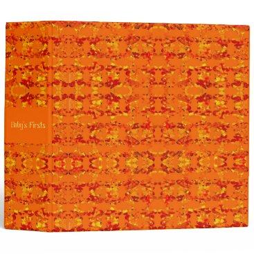 Aztec Themed Aztek Orange 3 ring binder