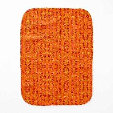 Aztec Themed Aztek Orange burp cloth